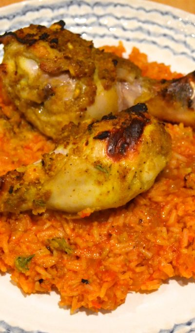Spice Madam – Nigerian Roasted Chicken and Rice Jollof