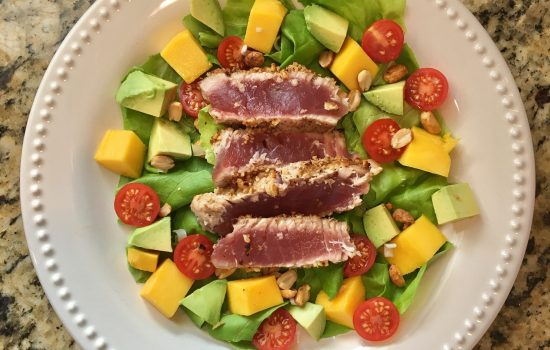 Walnut Crusted Ahi Tuna Salad