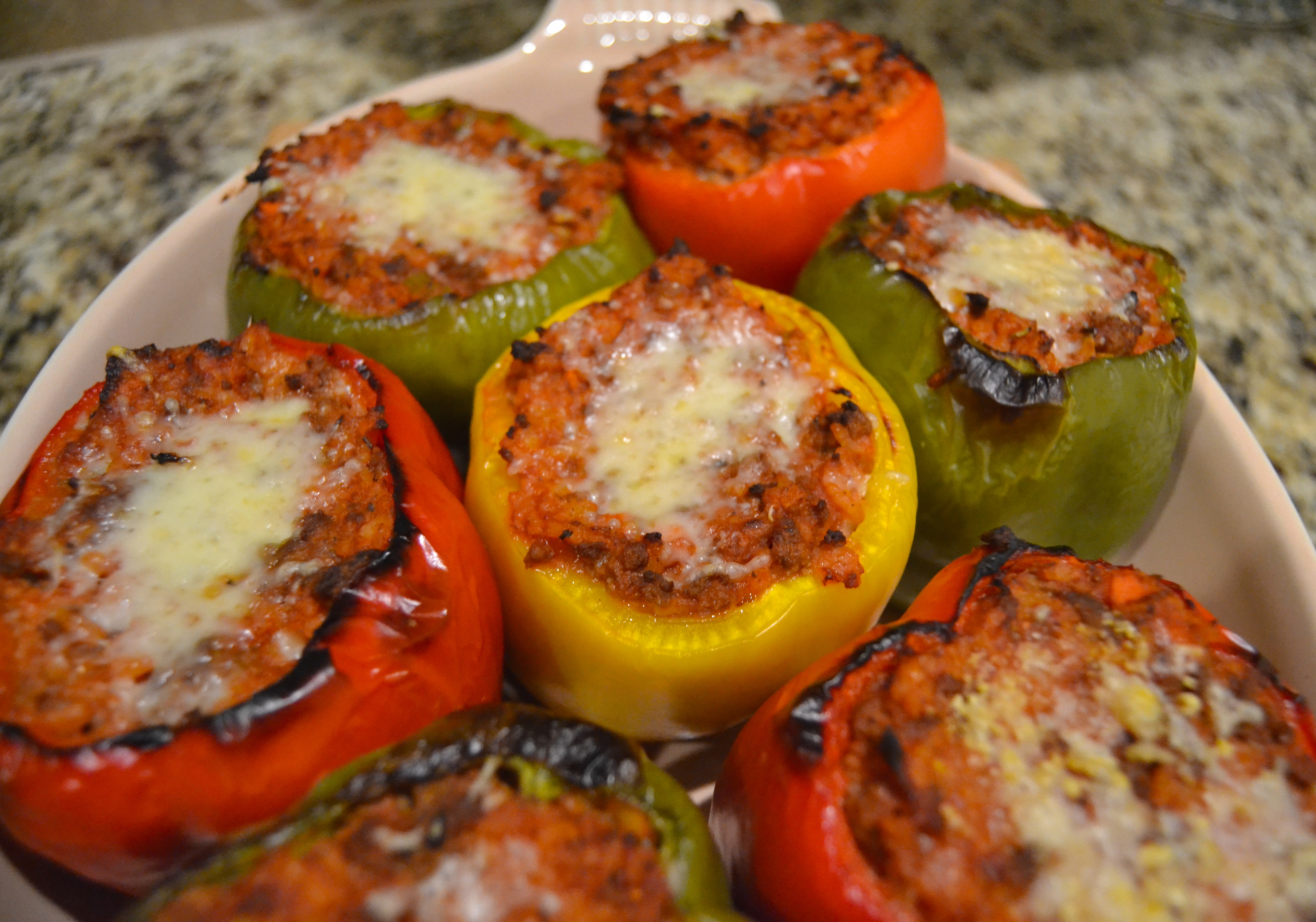 Italian Bolognese Stuffed Bell Peppers