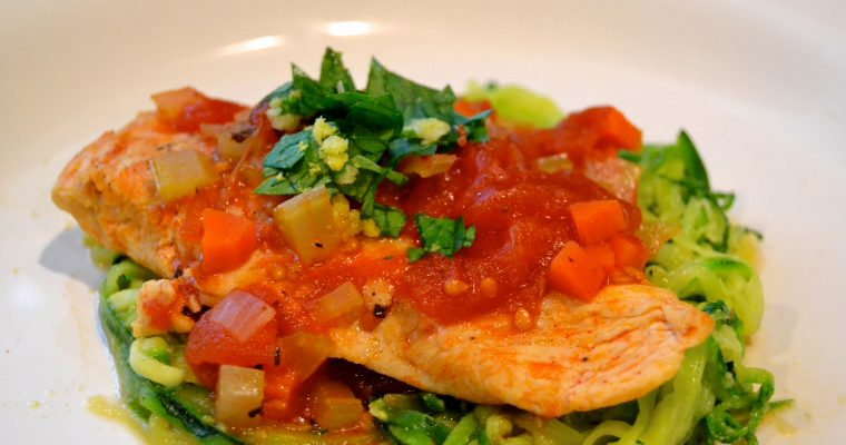 Osso Bucco Style Chicken with Zucchini Noodles